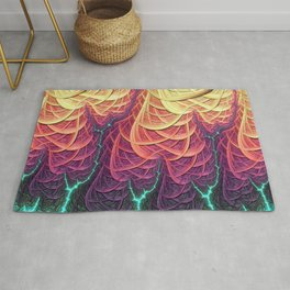 Fractal Lightening - Geometric Pattern - Manafold Art Rug
