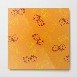 Lucky 7 dices Metal Print