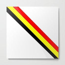 Flag of belgium 4 belgian,belge,belgique,bruxelles,Tintin,Simenon,Europe,Charleroi,Anvers,Maeterlinc Metal Print