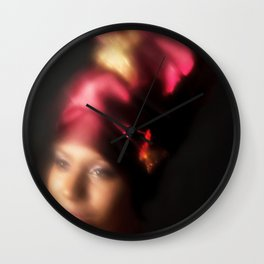 Blurred Butterfly Wall Clock