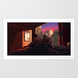 Neon Apartment Art Print