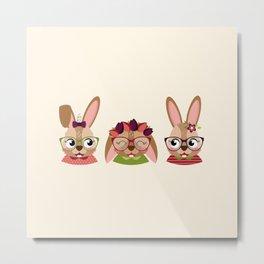 Triplettes lapines Metal Print