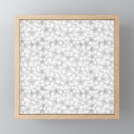 Cherry Blossom Pink Blocks Framed Mini Art Print