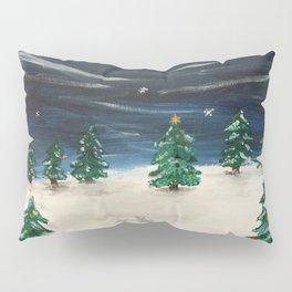 Christmas Snowy Winter Landscape Pillow Sham