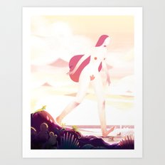 Desert Woman Art Print