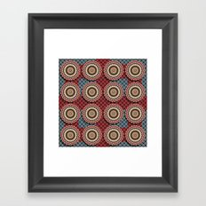 Elegance Emblems Pattern Framed Art Print