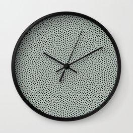 Little Dots Soft Black Ash Wall Clock