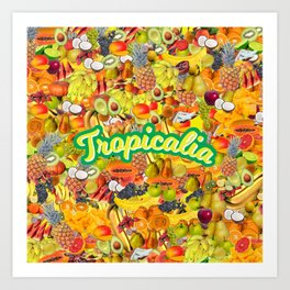 Tropicalia Fruits Art Print
