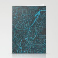 berlin Stationery Cards featuring Berlin by Map Map Maps