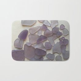 Genuine Purple Sea Glass Collection Bath Mat