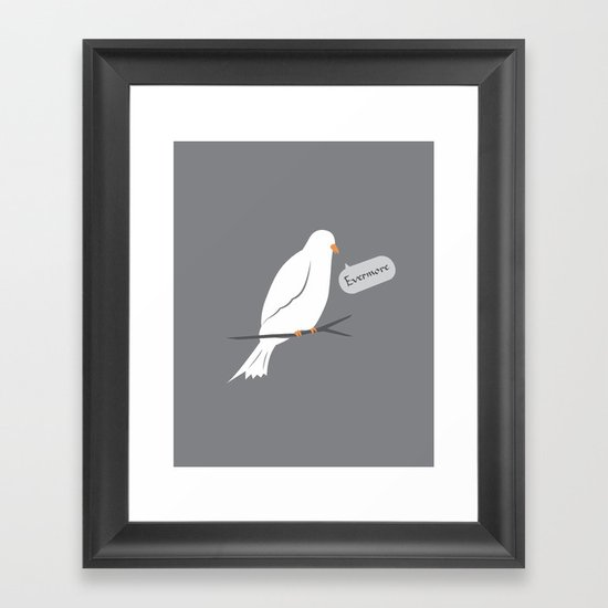 Quoth the dove Framed Art Print