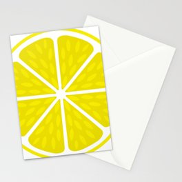 Fresh juicy lime- Lemon cut sliced section Stationery Cards