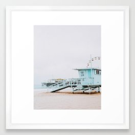 santa monica, california Framed Art Print