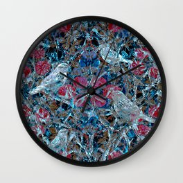 Little Birds and Roses Wall Clock
