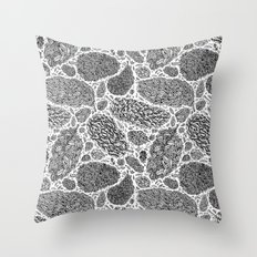 Nugs in Black and White Throw Pillow