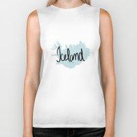 iceland Biker Tanks featuring Iceland love by Gabriela Fuente