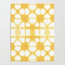 Shibori Ahi Yellow Poster