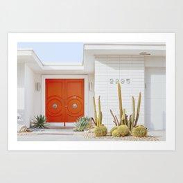 Orange Door in Palm Springs Art Print