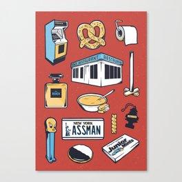 SEINFELD // Tattoo Flash Poster // George Costanza Cosmo Kramer Canvas Print