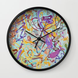 Shamanic Painting 08 Wall Clock