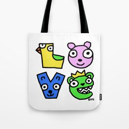 Love Creatures Tote Bag