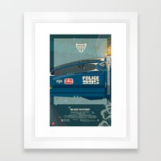 Spinner 995 II/III Blade Runner Framed Art Print