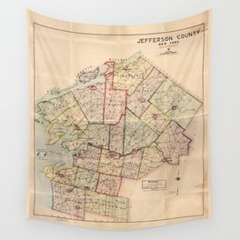 Map of Jefferson County, New York (1915) Wall Tapestry