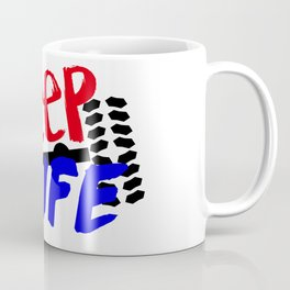 Jeep Life Red Blue Coffee Mug