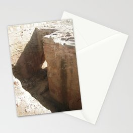 Color Travel Art Rock and a hard place #1 Stationery Cards
