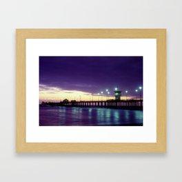 H.B. Pier Sunset 1983 Framed Art Print