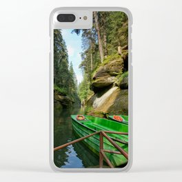A path to joy Clear iPhone Case