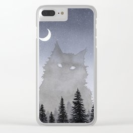 Giant Forest Cat Clear iPhone Case