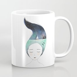 Dreaming about traveling the world Coffee Mug