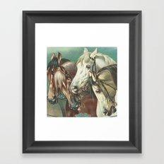 Vintage Circus Horses Framed Art Print