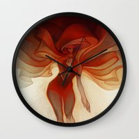 loish Wall Clocks featuring Wrapped by loish