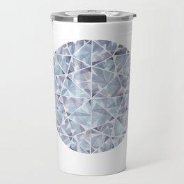 Grey Round Gem Travel Mug