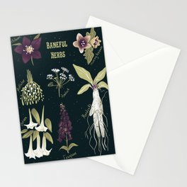 Baneful Herbs- Botany for witches Stationery Cards