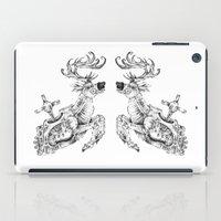 clockwork iPad Cases featuring clockwork deer by vasodelirium