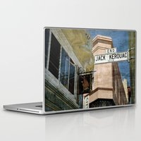 kerouac Laptop & iPad Skins featuring Jack Kerouac Alley and Vesuvio Pub by RicardMN Photography