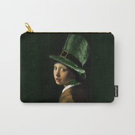 Girl With A Shamrock Earring Carry-All Pouch
