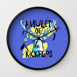 Amulet of Kickflips Wall Clock