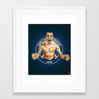 zlatan Framed Art Prints featuring Zlatan Ibrahimovic by Just Agung