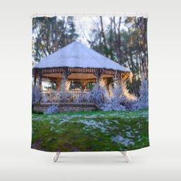 Kiosk in winter Shower Curtain