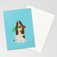 Basset Hound Dog in Love Stationery Cards