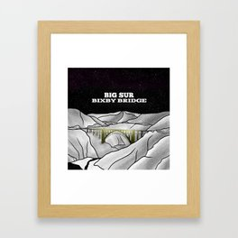 Bixby Bridge Big Sur Framed Art Print