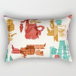 Costume Collage Rectangular Pillow