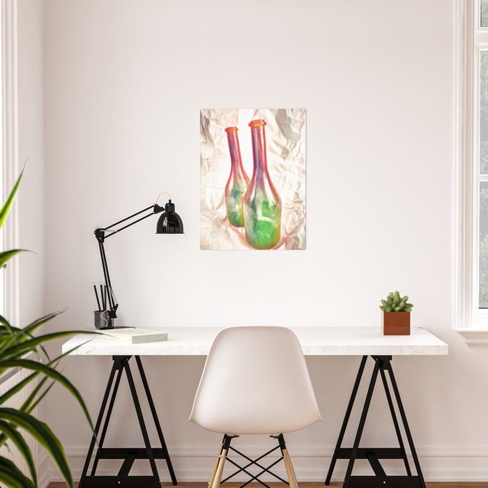 Two color bottles Poster