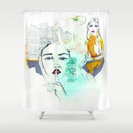 Rayuela Shower Curtain