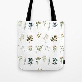 Delicate Floral Pieces Tote Bag