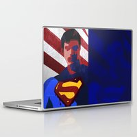 superman Laptop & iPad Skins featuring Superman by Scar Design